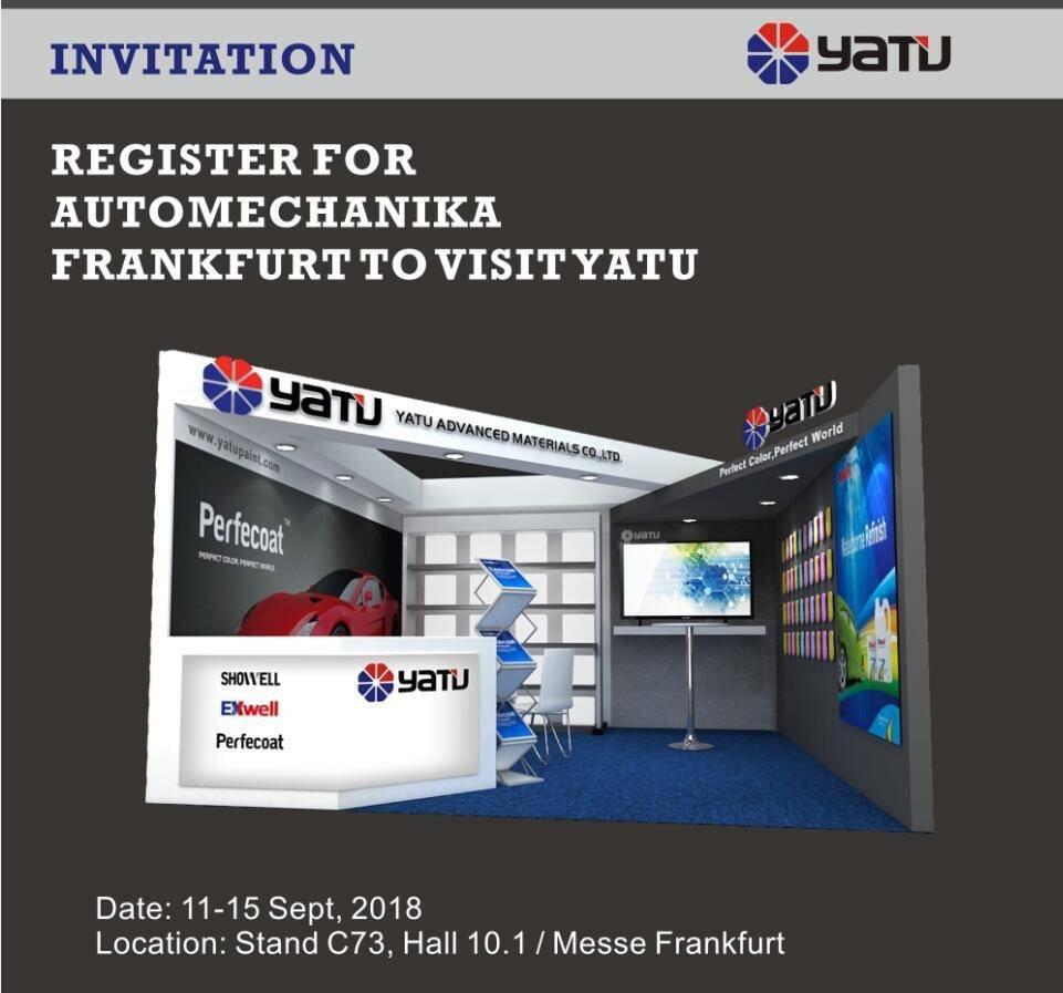 Registre-se para a AUTOMECHANIKA Frankfurt para visitar YATU