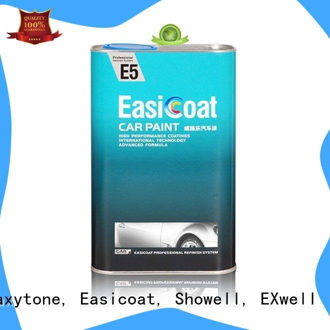 Maxytone, Easicoat, Showell, EXwell Brand series hardener metallic custom auto refinish paint